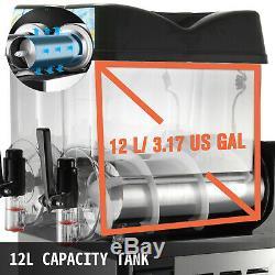 Commercial 2 Tanks Frozen Drink Slushy Making Machine Smoothie Maker 24L