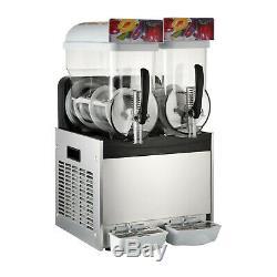 Commercial 2 Tanks Frozen Drink Slushy Making Machine Smoothie Maker 30L