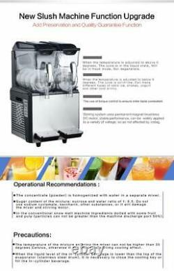 Commercial 2x10L ice slush machine ice slushie making machine frozen drink maker