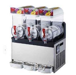 Commercial 3 Tank Frozen Drink Slush Slushy Making Machine Smoothie Maker T