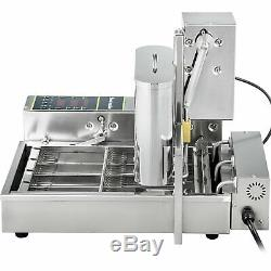 Commercial Automatic Donut Maker Making Machine Wide Oil Tank 4 Size Donut Molds