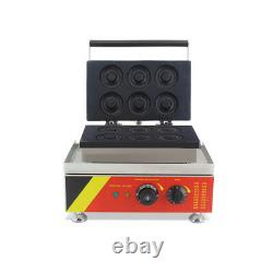 Commercial Donut Machine Maker Automatic Home Electric Waffle Making 1.5Kw 110V