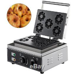 Commercial Donut Maker Donut Making Machine 5-Hole Commercial Donut Fryer Steel