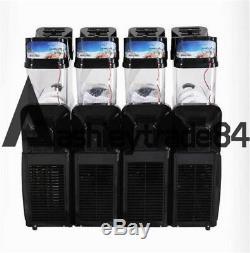 Commercial Frozen Drink Slush Making Machine Smoothie Maker 4 Tank TKX-04 110v