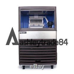 Commercial Ice Maker Auto Clear Cube Ice Making Machine 220V 55kg/24h for Bar