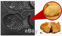 Commercial LPG Fish-type Waffle Maker Taiyaki Making Machine 6pcs/time