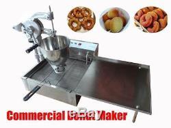 Commercial Manual Breakwater donut ball Donut Fryer Maker Making Machine 3Moulds