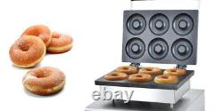 Commercial Non-stick Donut Maker Electric Doughnut Making Machine 6pcs/time 220V