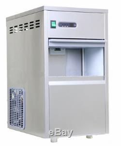 Commercial Snow Flake Ice Maker Making Machine 30KG/24h 10KG Storage Capacity