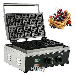Commercial Square Waffle Maker 10PCs Belgian Waffle Making Machine