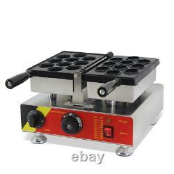 Commercial Waffle Maker 110V Walnut Waffle Making Machine with 10 PCS 180° Openi
