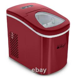 Deco Chef Portable Ice Maker Countertop Machine (Red) Makes 26lbs Of Ice Per Day