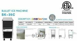 ETL Commercial bullet ice making machine, milktea shop ice maker