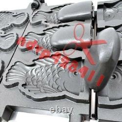 Electric 220v Open Mouth Taiyaki Maker Fryer Fish Making Machine 2plate/3 fish