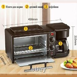 Electric 3 in 1 Breakfast Making Machine Oven Toaster Coffee maker Multifunction