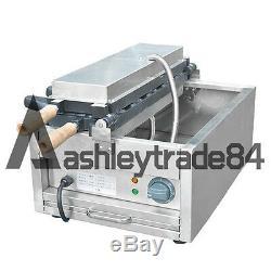 Electric 3kw Taiyaki Maker Fryer Fish Shape Waffle Making Machine 220V