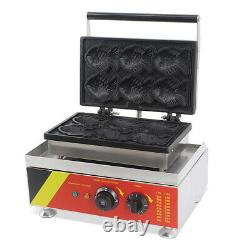 Electric Fish Waffle Maker 110V Commercial Waffle Making Machine Kitchen Cooking