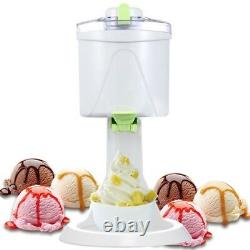 Electric Ice Cream Sundae Making Machine Automatic Mini DIY Fruit Icecream Maker
