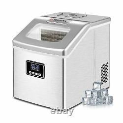 Euhomy Ice Maker Machine Countertop, 40Lbs/24H Portable Compact Ice Cube Make