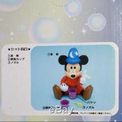 Fantasia Mickey bubble making machine Doll Figure figurine Toy Soap Maker Plush
