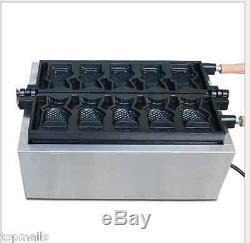 Fish type waffle machine, electric Japanese open mouth taiyaki making maker fryer