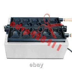 Fish type waffle machine, electric open mouth taiyaki making maker fryer 5/fish