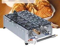 Gas Fish type waffle machine, fuel gas taiyaki making maker fryer 3KW