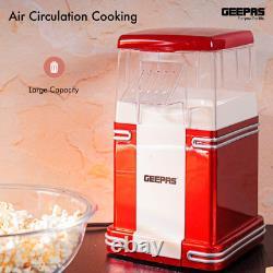 Geepas 1200W Electric Popcorn Maker Machine Makes Hot, Fresh, Healthy