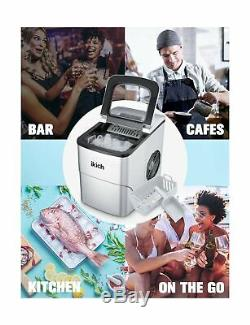 IKICH Ice Maker Machine Counter Top Home, Ice Cubes Ready in 6 Mins, Make 26