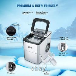 IKICH Portable Ice Maker Machine for Countertop, Ice Cubes Ready in 6 Mins, Make