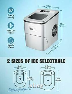 Ice Maker Machine Counter Top Home, Ice Cubes Ready in 6 Mins, Make 26 lbs