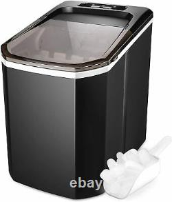 Ice Maker Machine Countertop, Portable Compact Ice Cube Makers, Make 26