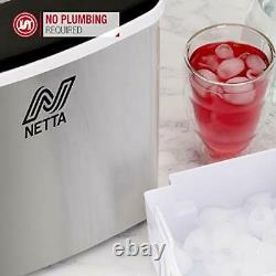 Ice Maker Machine for Home Use Makes Cubes in 10 Minutes Large 12kg Silver