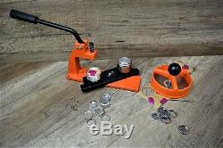 Micro Badge Maker Making Machine 100 Badges, circle cutter and 25mm die
