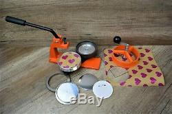 Micro Badge Maker Making Machine 100 components, circle cutter and 77mm die