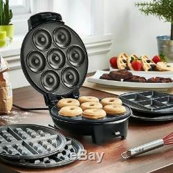 Mini Doughnut Maker Kitchen Waffle Plate Making Machine Brownie Night Snack