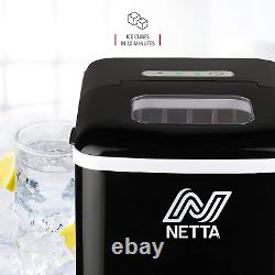 NETTA Ice Maker Machine for Home Use Makes Cubes in 10 Minutes Large 12kg 1.8L