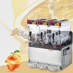 NEW Commercial 3 Tank Frozen Drink Slush Slushy Making Machine Smoothie Maker
