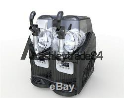 New 2 Tank Frozen Drink & Slush Slushy Making Machine Juice Smoothie Maker 220V