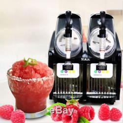 New 2 Tank Frozen Drink Slush Slushy Making Machine Juice Smoothie Maker 2-2L