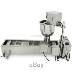 New Approved Commercial Automatic Donut Fryer/Maker Making Machine 3 Set Mold pr