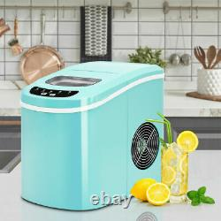 Portable Compact Electric Ice Maker Making Machine Mini Cube 26lb/Day Mint Green
