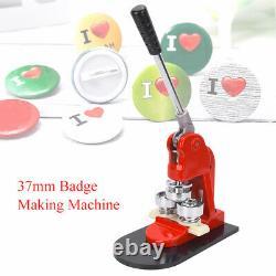 Professional 37mm Badge Making Machine Ergonomic Button Maker Pressing Machine