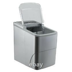 RV Portable Ice Maker Countertop Ice Machine 120V Makes 26lbs of Ice Per Day