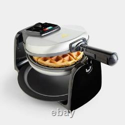 Rotating Waffle Maker 1000W Belgian Waffles Making Machine Non Slip Non-Stick