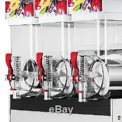 Slush Making Machine 3 Tank Snow Frozen Drink Smoothie Maker Commercial