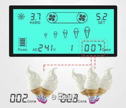 Soft Ice Cream Maker 2+1mix Flavor Twist Soft Ice Cream Making Machine 110V US