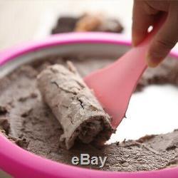 Spona Iron Plate Ice Cream Maker Making Pan Instant Handmade IceCream Machine