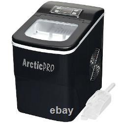 USED- Arctic-Pro Portable Digital Quick Ice Maker Machine, Black, Makes 2 Ice Si
