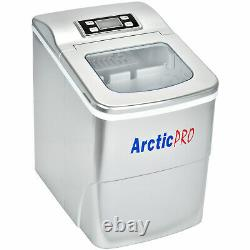 USED- Arctic-Pro Portable Digital Quick Ice Maker Machine, Silver, Makes 2 Ice S